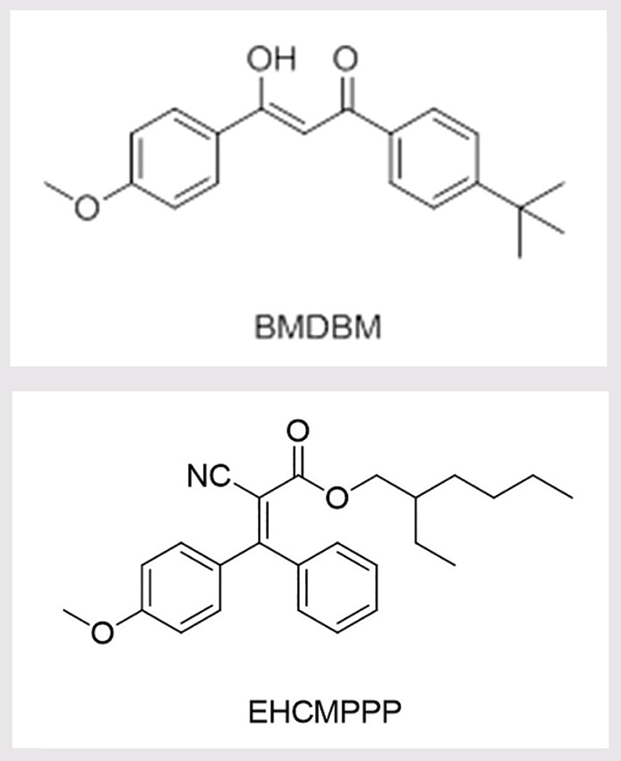 Figure 1. Molecular structures of BMDBM and EHCMPPP