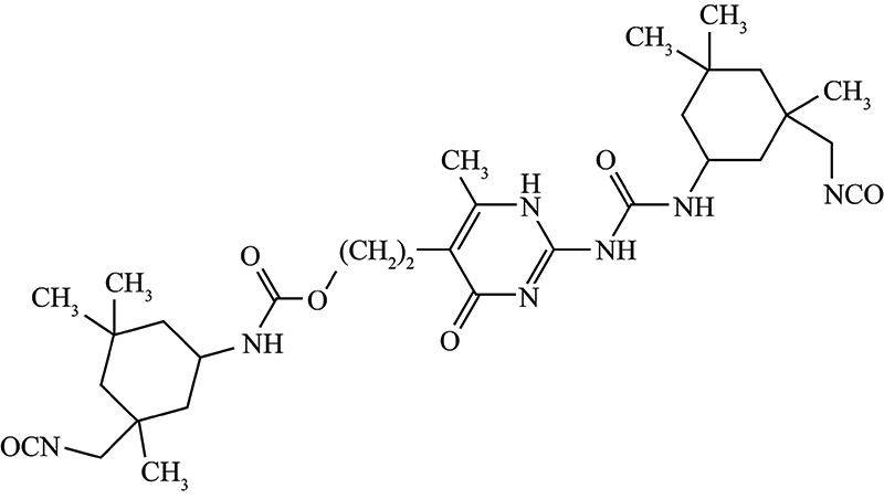Figure 5. Depiction of an ionizable amine monomer with a (thio)urethane/(thio)urea monomer