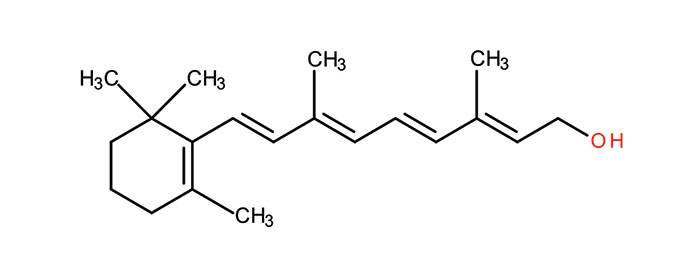 Figure 2. Structure of retinol