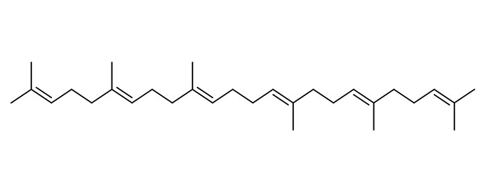 Figure 4. Structure of squalene