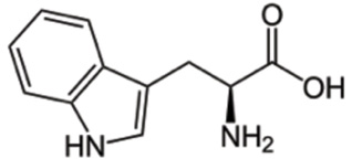 Figure 1. The chemical structure of tryptophan