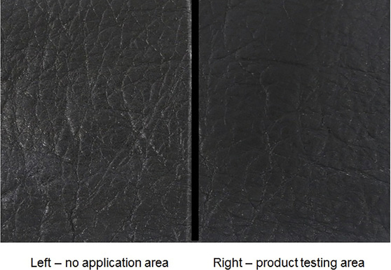 Figure 9. Soft focus evaluations in untreated vs. treated leather matrices