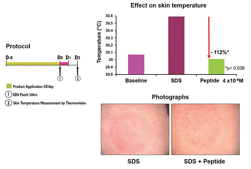 Figure 3. In vivo skin irritation study: Preventive action