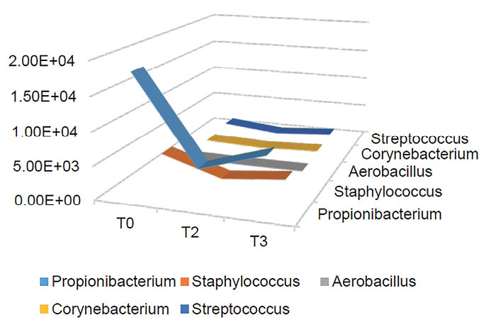 Figure 7. Changes in microbiome participant 12