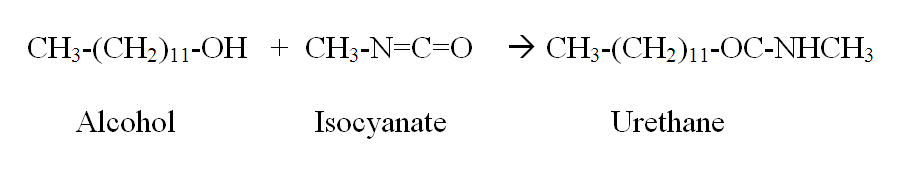 Urethanes are made by the reaction of an alcohol and an isocyanate.