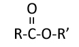 An ester is a molecule that contains the functional group shown here.