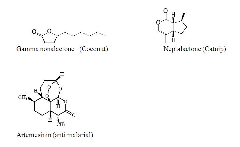 Some lactones are used as flavors and fragrances
