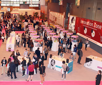 The Innovation Zone at in-cosmetics 2013 in Paris.
