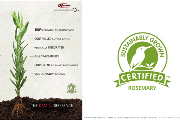 Figure 6. Sustainably grown Rosemary and SCS Kingfisher Certification markFiugre 6. Sustainably grown Rosemary and SCS Kingfisher Certification mark