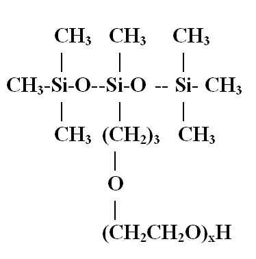 Figure 2. Structure of a trisiloxane