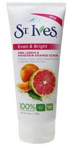 St. Ives Even  Bright Pink Lemon and Mandarin Orange Scrub