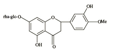 Figure 1. Chemical structure of hesperidin