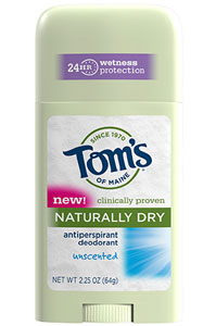 Tom's of Maine Unscented Naturally Dry Antiperspirant