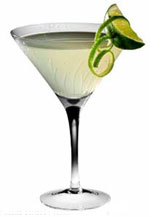 A lime cocktail