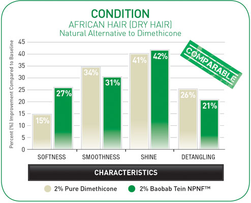 Figure 11. Natural Alternative to Dimethicone for Dry Hair (condition)