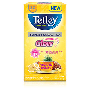 Tetley's Super Herbal Tea: Glow
