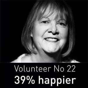 Our Volunteers Feel Happier