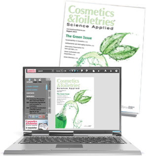 Cosmetics and Toiletries magazine cover and digital edition